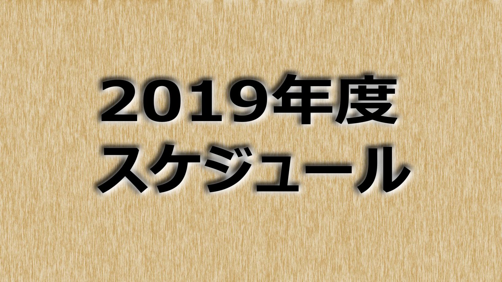 2019年度スケジュールのイメージ